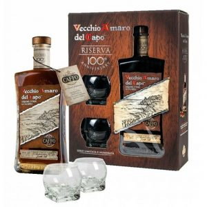 Amaro del Capo Riserva del Centenario con 2 Bicchieri in Astuccio